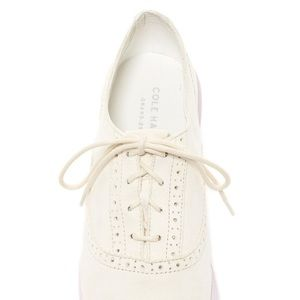 Cole Haan Ella Grand Oxford White Casual Shoes